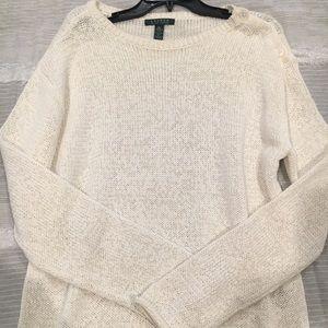 Ralph Lauren White Sweater